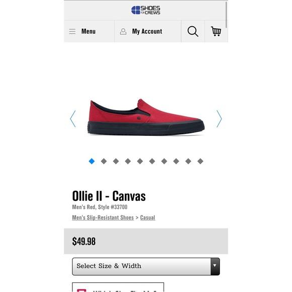Shoes For Crews Ollie II Men s Non-Slip Work Shoe.  M 5a9b30148df47055f0966e40 c29ec74a1